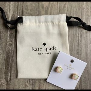 kate spade Jewelry - Kate Spade Gold Opal Glitter Earrings